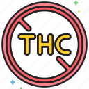 no, no thc, thc icon