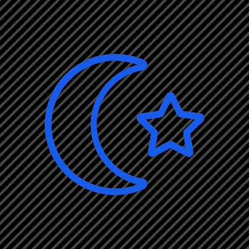 islam, moon, muslim, star icon