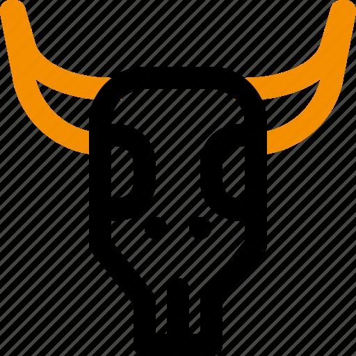cowboy, desert, india, skull icon