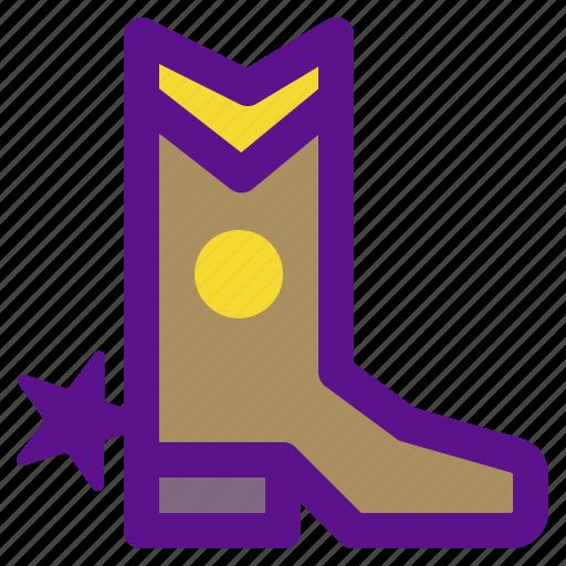 boots, cowboy, desert, india icon