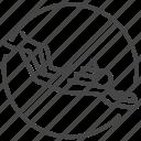 alone, diver, diving, prohibited, scuba diver, solo, traveler icon