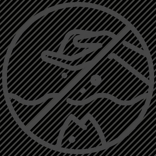 don't, feed, feeding, ocean, prohibited, sea, traveler icon
