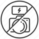camera, flash, photo, prohibited, shoot, traveler icon