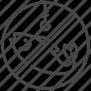 bait, do not, fishing, ocean, prohibited, sea, traveler icon