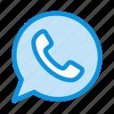 app, chat, telephone, watts icon