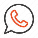 app, chat, telephone, watts icon