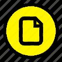 basic, document, file, ui icon
