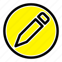 basic, pencil, text icon