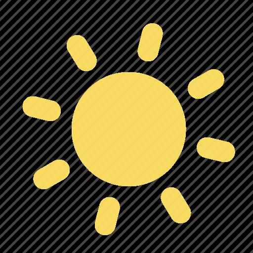 bright, sun, sunny, weather forecast, wheater icon