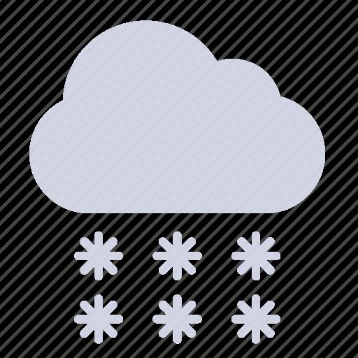 sleet, snowfall, weather forecast, wheater, winter icon