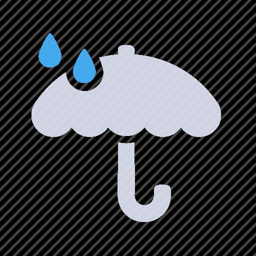 rain, umbrella, weather forecast, wheater icon