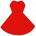 clothes, clothing, dress, red dress, accessory, beauty, fashion
