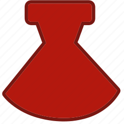 accessory, beauty, clothes, clothing, dress, fashion, red dress icon