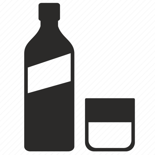 alcohol, bottle, cocktail, drink, whiskey, whisky icon