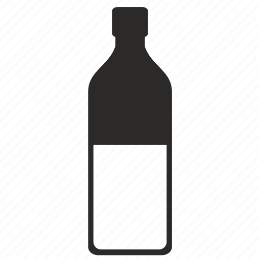 alcohol, bottle, form, glass, half, whiskey, whisky icon