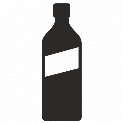 bottle, form, label, liter, whiskey, whisky icon