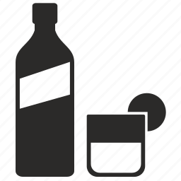 bottle, form, glass, label, liter, whiskey, whisky icon