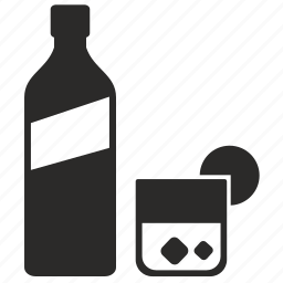 bottle, drink, glass, label, liter, whiskey, whisky icon