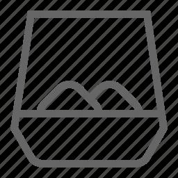 distillery, glass, ios, tumbler, whisky icon
