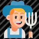 avatar, farmer, job, man, profession, user, work