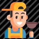 avatar, job, man, plumber, profession, user, work