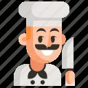 avatar, chef, job, man, profession, user, work