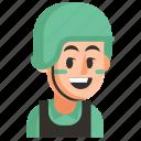 avatar, job, man, profession, soldier, user, work icon