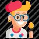 avatar, job, man, painter, profession, user, work