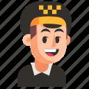 avatar, job, man, profession, taxi driver, user, work icon