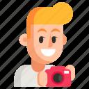 avatar, job, man, photographer, profession, user, work icon