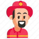 avatar, firefighter, job, man, profession, user, work