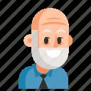 avatar, job, man, pensioner, profession, user, work icon