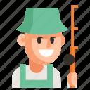 avatar, fisherman, job, man, profession, user, work