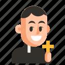 avatar, job, man, priest, profession, user, work