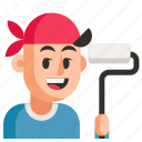 avatar, dyer, job, man, profession, user, work