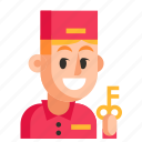 avatar, concierge, job, man, profession, user, work