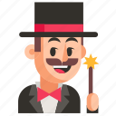 avatar, job, magician, man, profession, user, work