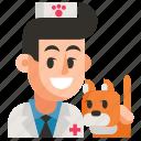 avatar, job, man, profession, user, veterinarian, work