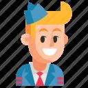 avatar, job, man, profession, steward, user, work icon