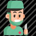 avatar, job, man, profession, surgeon, user, work icon