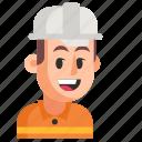 avatar, job, man, profession, road worker, user, work icon