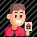 agent, avatar, job, man, profession, user, work