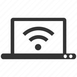 connection, internet, laptop, notebook, wifi, wifi access, wireless icon