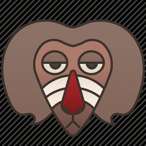 africa, baboon, mammal, monkey, primate icon