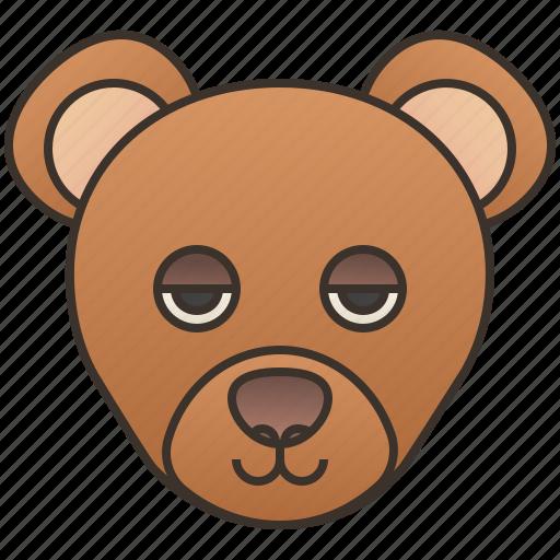 alaska, bear, brown, grizzly, wildlife icon