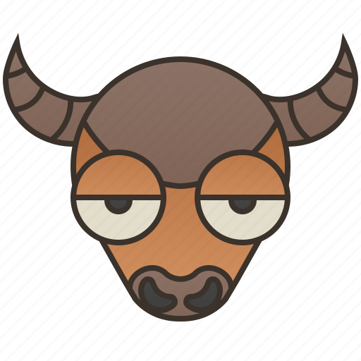 bison, bovidae, grazing, prairie, wild icon