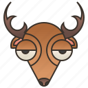 antler, deer, grazing, hunt, stag icon