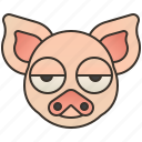 animal, farm, pig, pork, swine icon
