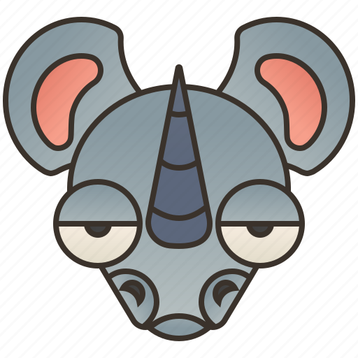 africa, endangered, horn, rhino, wildlife icon