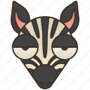 africa, safari, savanna, stripes, zebra icon